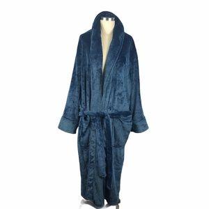 DANIEL BUCHLER Marled Blue Cozy Robe Men's M/L